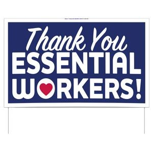 Thank You Essential Workers Double-Sided Yard Sign (16