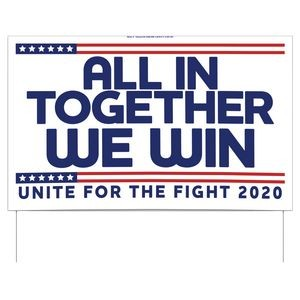 All In Together Double-Sided Yard Sign (16