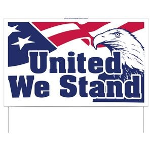 United We Stand Double-Sided Yard Sign (16