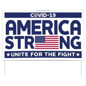 America Strong Double-Sided Yard Sign (16